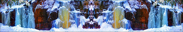 Photograph - Totem Colors In A Winter Dreamscape by Wayne King