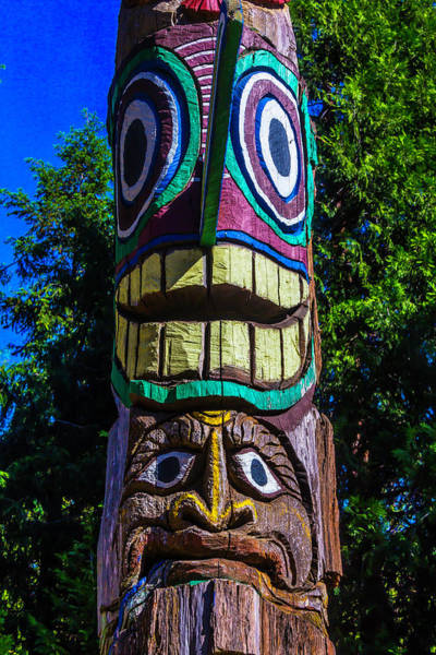 Totem Pole Wall Art - Photograph - Totem Pole Figures by Garry Gay