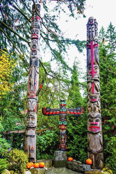 Wall Art - Photograph - Totem Poles by Art Spectrum