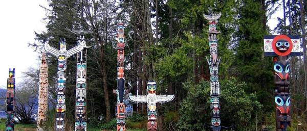 Photograph - Totem Poles by Will Borden