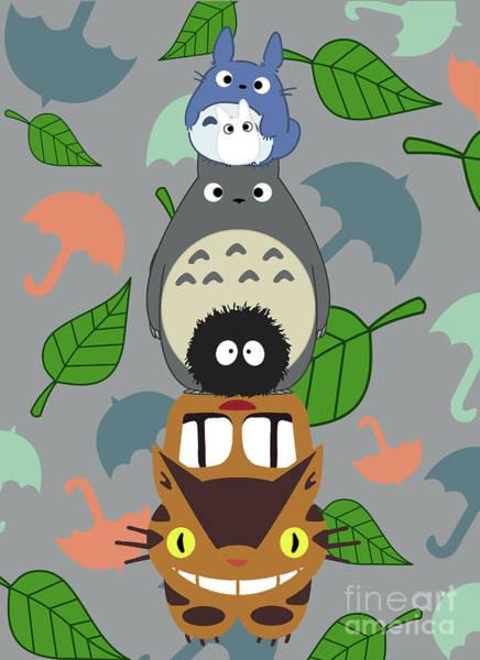 Totoro Digital Art - Totem Totoro by Canis Picta