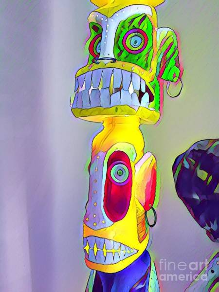 Photograph - Totemic Mask by Bill Thomson