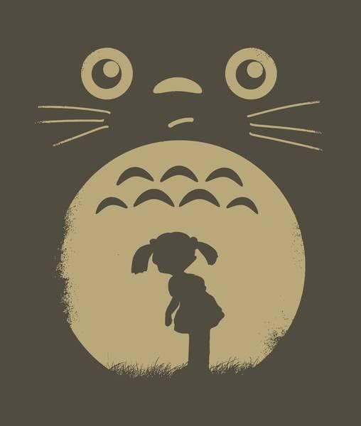 Totoro Digital Art - Totoro Minimalist by Lobito Caulimon