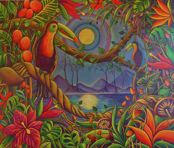 Wall Art - Painting - Toucans In The Jungle by Sue Beck-Ryan