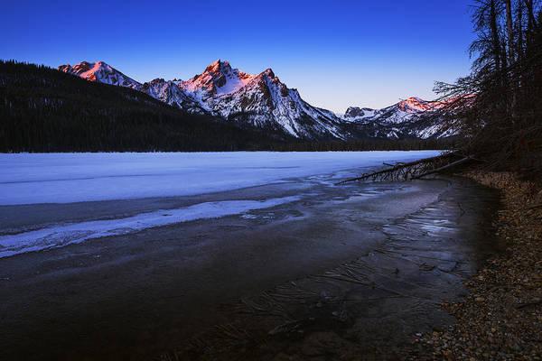 Alpen Glow Wall Art - Photograph - Touch Of Light On Mcgowan Peak Stanley Idaho by Vishwanath Bhat