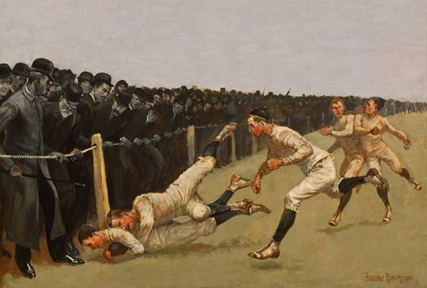 Painting - Touchdown Yale Vs Princeton 1890 by Movie Poster Prints