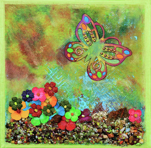 Wall Art - Mixed Media - Touched By Enchantment by Donna Blackhall