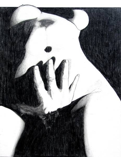 Nipples Drawing - Touching by Eric Robinson