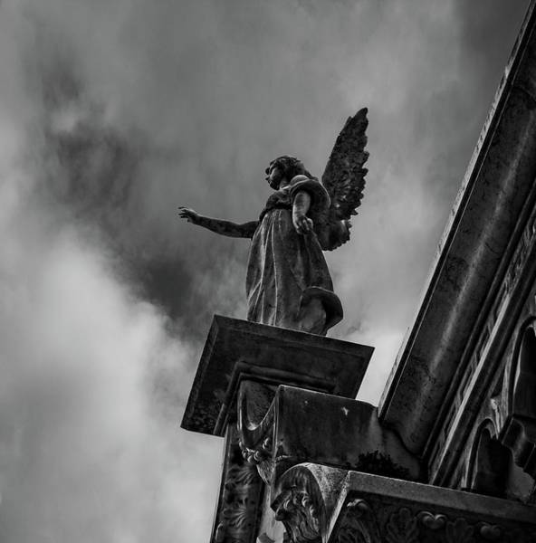 Life Or Death Photograph - Touching Heaven Black And White by Camera Or Bust