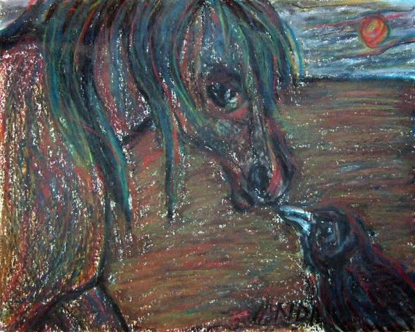 Pastel - Touching Noses by Katt Yanda