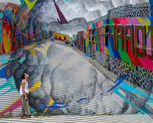 Wynwood Photograph - Touching The Wall by Coco Moni