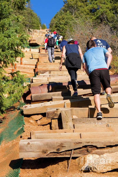 Photograph - Tough Climb On The Manitou Incline And Barr Trail by Steve Krull