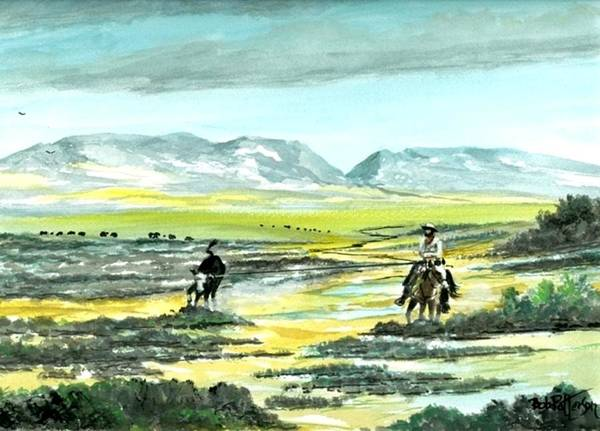 Horsemanship Painting - Tough Stray by Bob Patterson