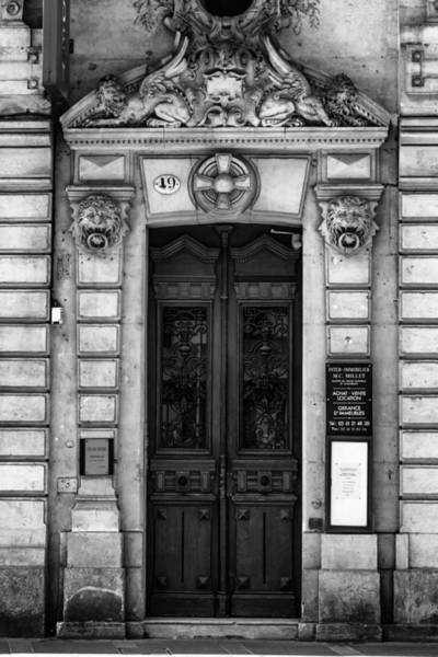 Photograph - Toulouse Door In Mono by Georgia Fowler