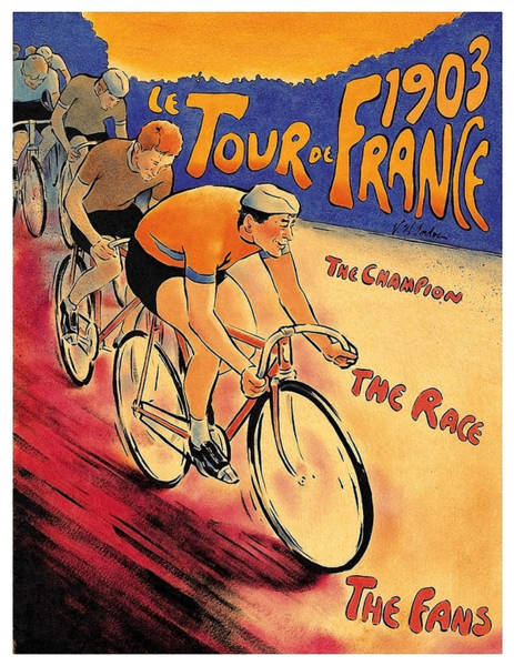 Wall Art - Painting - Tour De France, Championship, Race, Vintage Poster by Long Shot