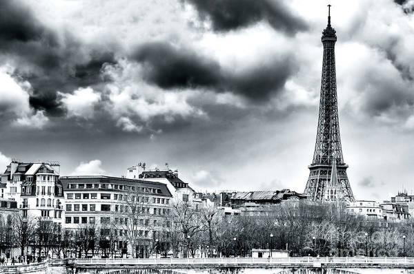Invalides Photograph - Tour Eiffel From Pont Alexandre Paris by John Rizzuto