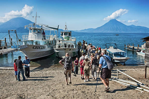 Photograph - Tourists At Lake Atitlan, Guatemala by Tatiana Travelways