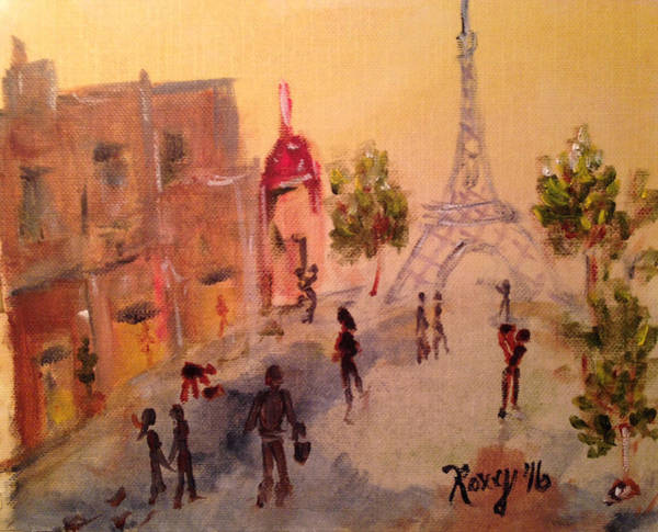 Wine Painting - Tourists by Roxy Rich