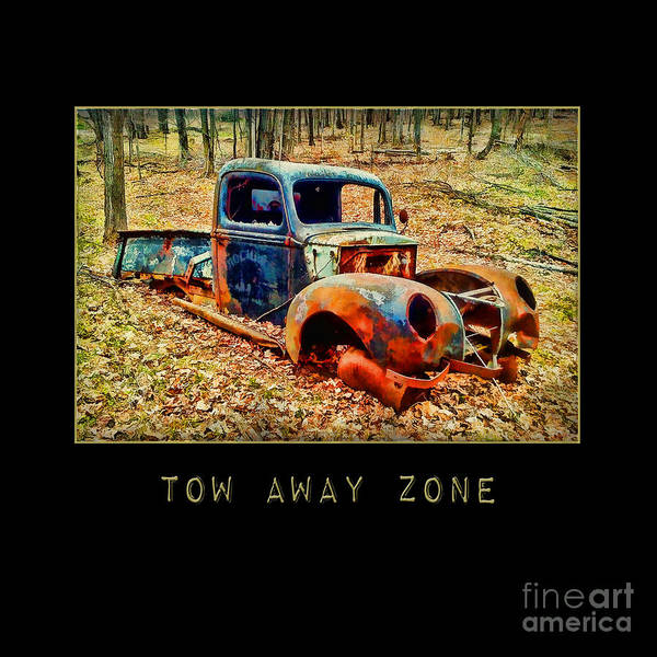 Photograph - Tow Away Zone Vintage Truck by Christina VanGinkel
