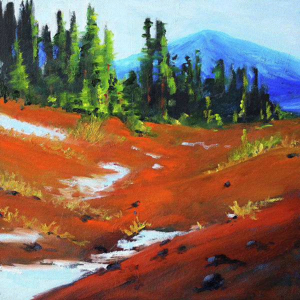 Central Oregon Wall Art - Painting - Toward Bachelor by Nancy Merkle