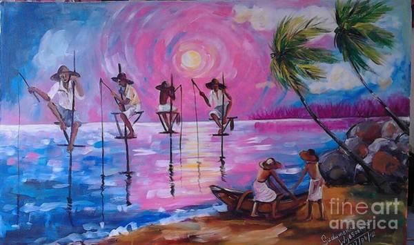 Wall Art - Painting - Toward The Winds by Sudumenike Wijesooriya