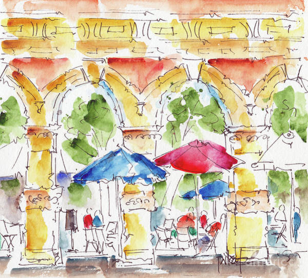 Painting - Towards Ankeny Plaza by Pat Katz