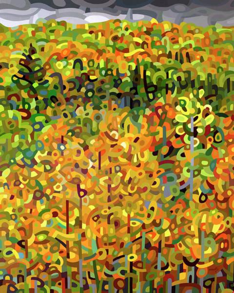 Rain Forest Painting - Towards Autumn by Mandy Budan