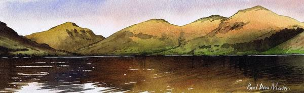 Wast Wall Art - Painting - Towards Great Gable Across Wast Water by Paul Dene Marlor