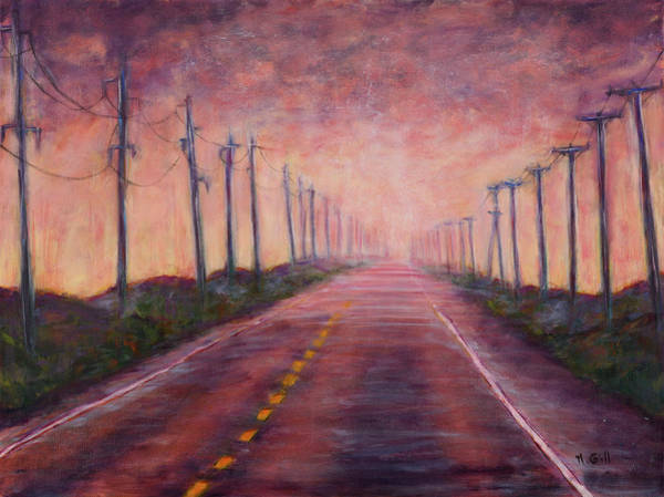 Pylon Painting - Towards Light by Michelle Gill