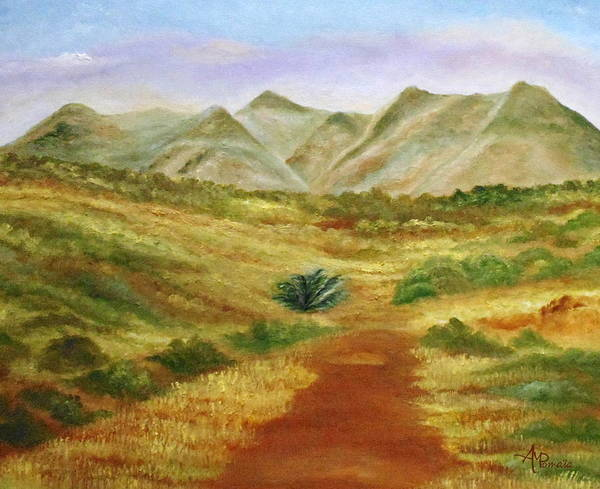 Painting - Towards The Desert by Angeles M Pomata