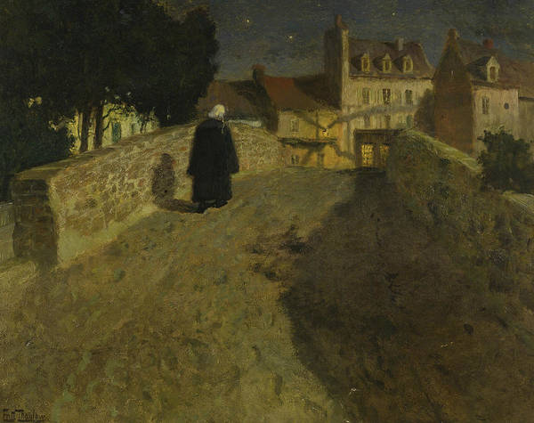 Painting - Towards The Pont Lovignon In Quimperle by Frits Thaulow