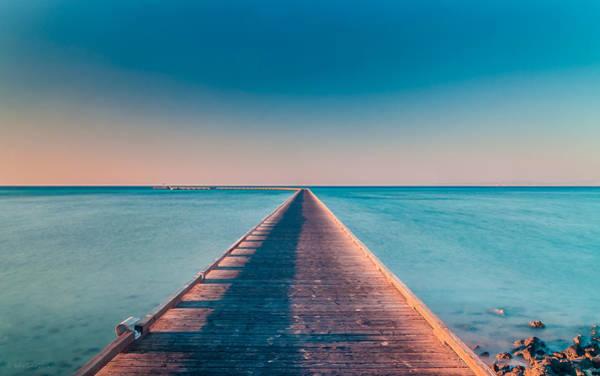 Photograph - Towards The Sunshade At The Sea by Julis Simo