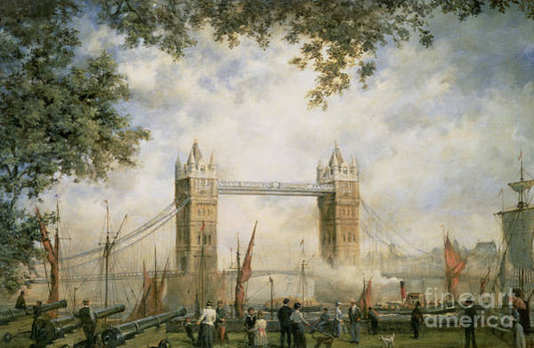Westminster Painting - Tower Bridge - From The Tower Of London by Richard Willis