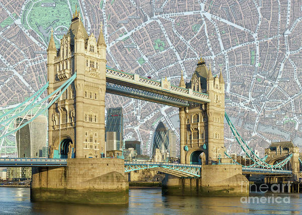 Wall Art - Digital Art - Tower Bridge by MGL Meiklejohn Graphics Licensing