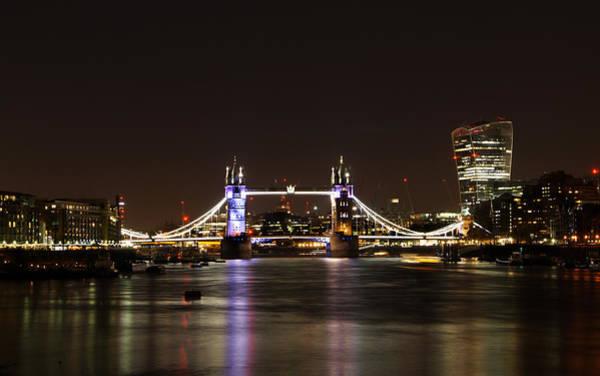 Wall Art - Photograph - Tower Bridge At Night by Mark Rogan