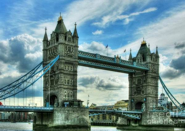 Photograph - Tower Bridge In London by Mel Steinhauer