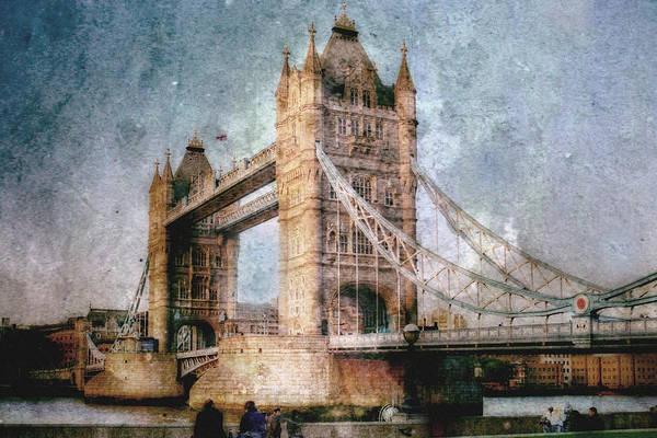Wall Art - Digital Art - Tower Bridge by Jeff Clark