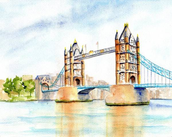 Painting - Tower Bridge London by Carlin Blahnik CarlinArtWatercolor
