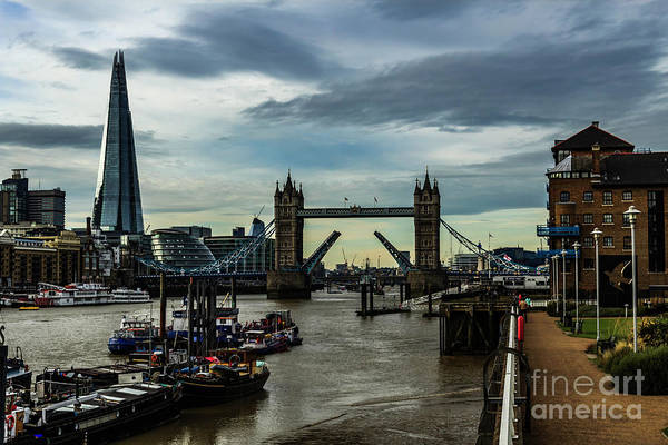 Photograph - Tower Bridge Open by Nigel Dudson