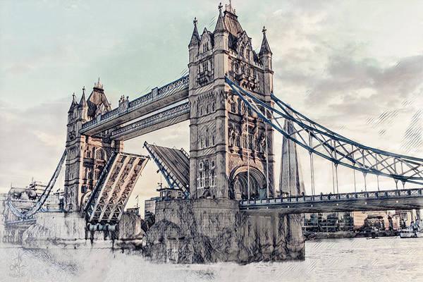 Digital Art - Tower Bridge by Pennie McCracken