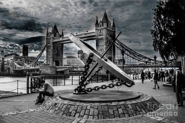 Photograph - Tower Bridge With The Compass by Nigel Dudson