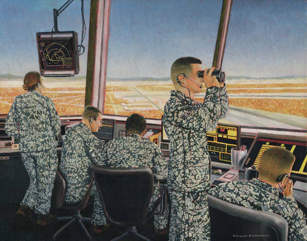 Painting - Tower Crew by Douglas Castleman