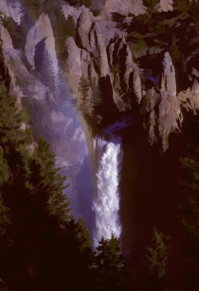 Photograph - Tower Falls by Robert Potts