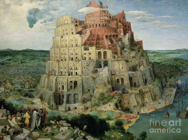Elder Painting - Tower Of Babel by Pieter the Elder Bruegel