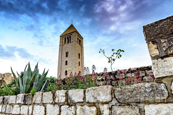 Photograph - Tower Over Old Town Rab, Rab Island, Croatia by Global Light Photography - Nicole Leffer
