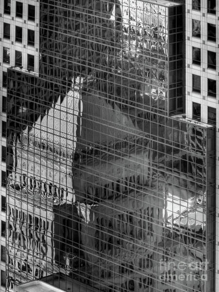 Photograph - Tower Reflections Bw by Mel Steinhauer