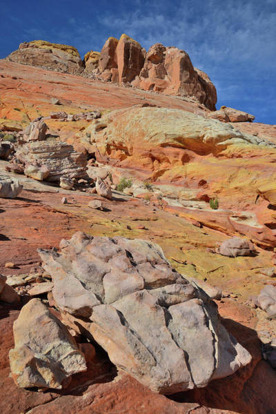Photograph - Towering Above Wash 3 In Valley Of Fire by Ray Mathis