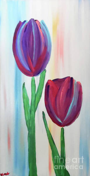 Painting - Towering Tulips by Jilian Cramb - AMothersFineArt