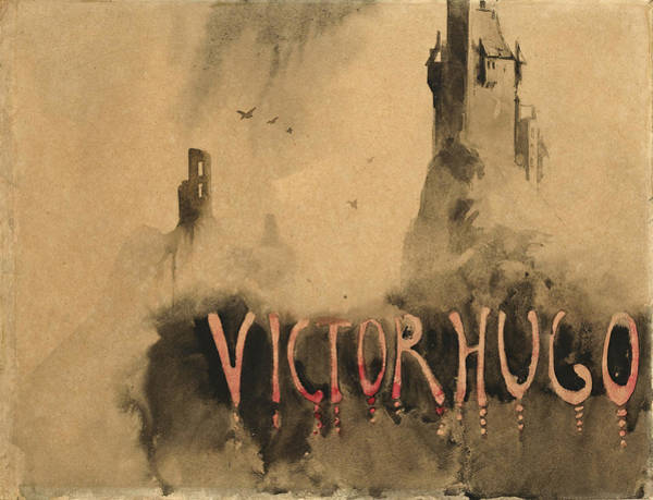 Mist Drawing - Towers In The Mist by Victor Hugo