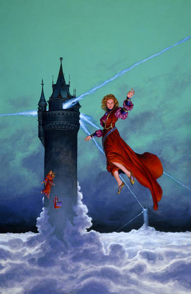 Mages Painting - Towers Of Darkover by Richard Hescox